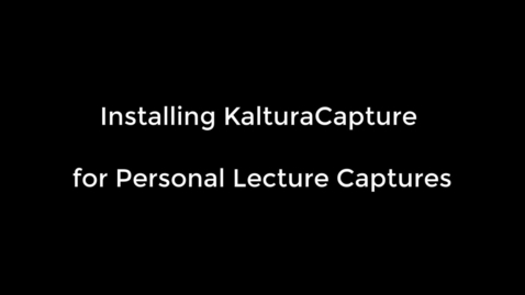 Thumbnail for entry kalturacapture