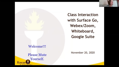 Thumbnail for entry 11/20/2020 - Student Interaction with Surface Go, Webex/Zoom and Whiteboard