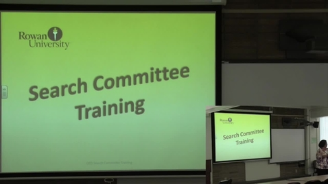 Thumbnail for entry Search Committee Training with Subtitles