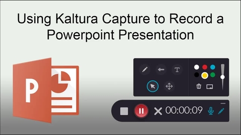 Thumbnail for entry Using Kaltura  Capture to Record a Powerpoint Presentation in Windows