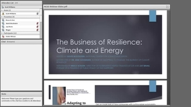 Thumbnail for entry The Business of Resilience - Climate and Energy