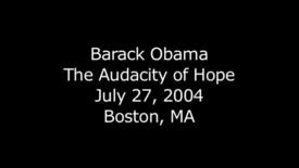 Thumbnail for entry Barack Obama - The Audacity of Hope