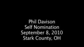 Thumbnail for entry Phil Davison - Self Nomination