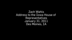 Thumbnail for entry Zach Wahls - Address to the Iowa House of Representatives