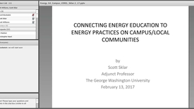 Thumbnail for entry Connections Between Energy Education and Energy Practices on Campus and Local Communities