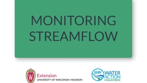 Thumbnail for entry Monitoring Streamflow