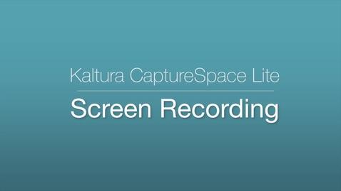 CaptureSpace Lite - Screen Recording