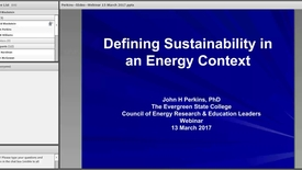 Thumbnail for entry Defining Sustainability in an Energy Context