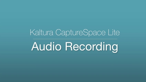 CaptureSpace Lite - Audio Recording