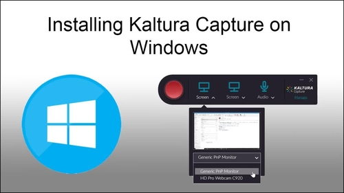 Kaltura Capture - Installation