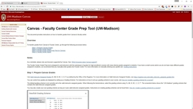 Thumbnail for entry Canvas - Faculty Center Grade Prep Tool (UW-Madison)