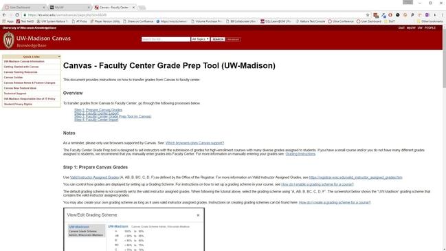 Video Thumbnail For Canvas Faculty Center Grade Prep Tool Uw Madison