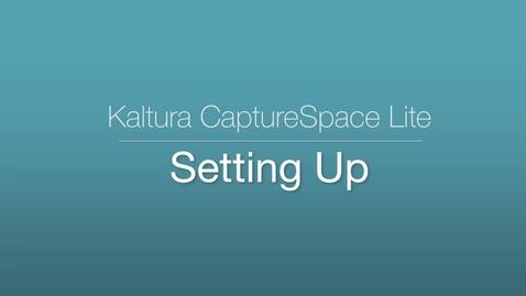 CaptureSpace Lite - Settings