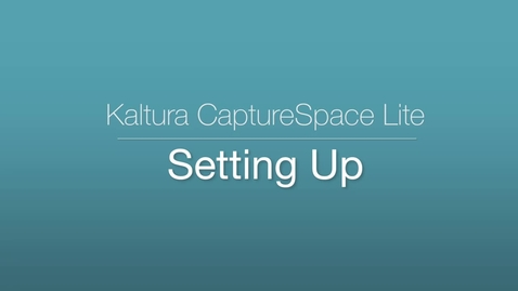 CaptureSpace Lite - Settings