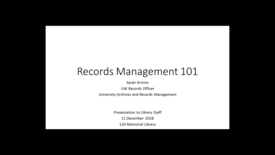 Thumbnail for entry Records Management 101
