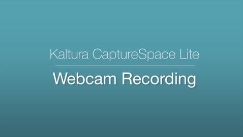 CaptureSpace Lite - Webcam Recording