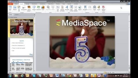 Thumbnail for entry Intro to Kaltura MediaSpace 5.0 Enhancements