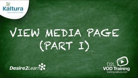 Thumbnail for entry View Media Page (Part 1) | Desire2Learn Tutorial