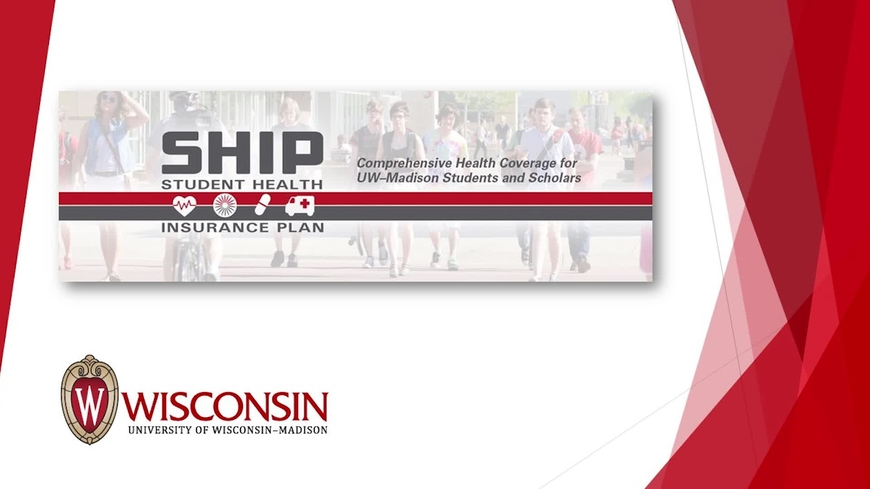 Video thumbnail for Student Health Insurance Plan (SHIP) Video for Fall 2017