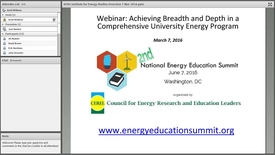Thumbnail for entry Achieving Breadth and Depth in a Comprehensive University Energy Program