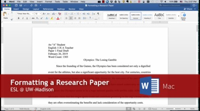 research paper formatting