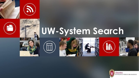 Thumbnail for entry UW-System Search