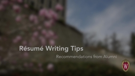 Thumbnail for entry L&S Alumni Recommendations: Resume Writing
