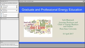 Thumbnail for entry Graduate and Professional Energy Education