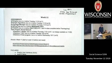 Thumbnail for entry CS400 W11 Tuesday by Mark Powers - SocialScience 5206 11.12.2019 2.27.10PM