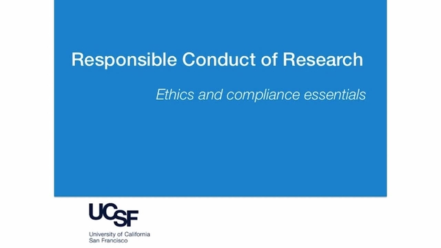 Responsible Conduct of Research Course for Clinical Researchers