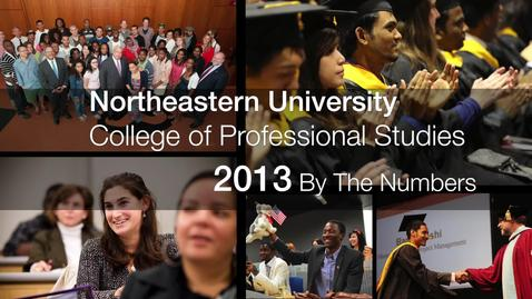 Thumbnail for entry Northeastern College of Professional Studies: 2013 by the numbers