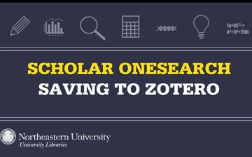 Getting Started Zotero Subject Guides At Northeastern University