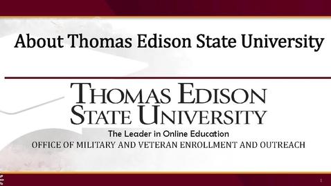 Thumbnail for entry Why TESU Military Presentation