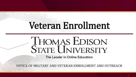 Thumbnail for entry Veteran Enrollment Presentation