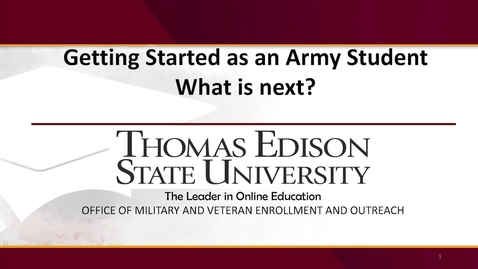 Thumbnail for entry Getting Started: Army Students
