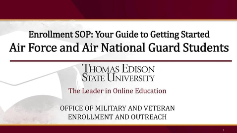Thumbnail for entry Air Force and Air National Guard Presentation