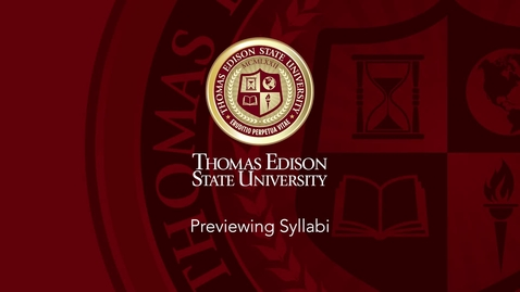 Thumbnail for entry How to Preview Syllabi