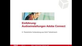 Vorschaubild für Eintrag Adobe Connect Audioeinstellungen