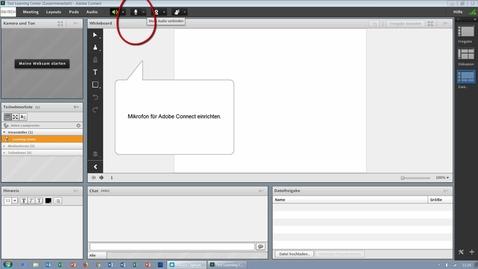 Vorschaubild für Eintrag Mikrofon in Adobe Connect