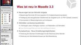 Vorschaubild für Eintrag Aufzeichnung 20' Webinar: Moodle 3.3 - Was ist neu 20.02.2018