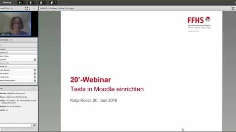 Vorschaubild für Eintrag 20' Webinar Test in Moodle