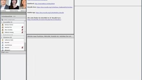 Vorschaubild für Eintrag Aufzeichnung 20'Webinar Moodle update 20.7.17