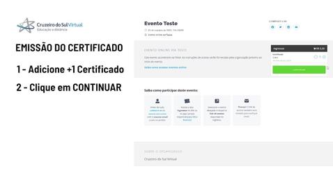 Miniatura para entrada Tutorial Sympla - Emissão de Certificado Participante