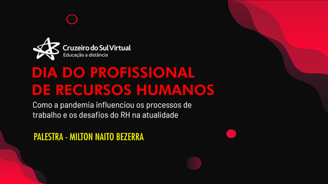 Miniatura para entrada Comemoração - Dia do Profissional de Recursos Humanos
