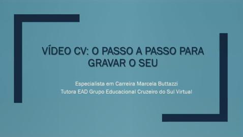 Miniatura para entrada Palestra Vídeo Currículo - Núcleo de Empreendedorismo