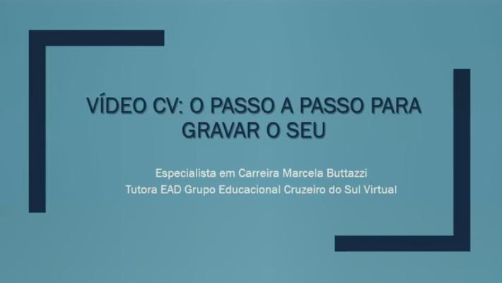 Palestra Vídeo Currículo - Núcleo de Empreendedorismo