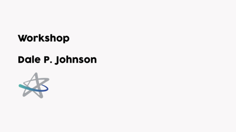 Miniatura para entrada Workshop - Dale Johnson (english)