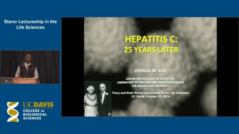 Thumbnail for entry Storer Lecture - Charles M. Rice 10-28-14