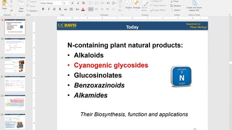 Thumbnail for entry PBI298 Lecture#4-2 Cyanogenic Glycosides