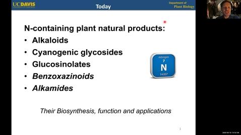 Thumbnail for entry PBI298 Lecture#4-1 Alkaloids